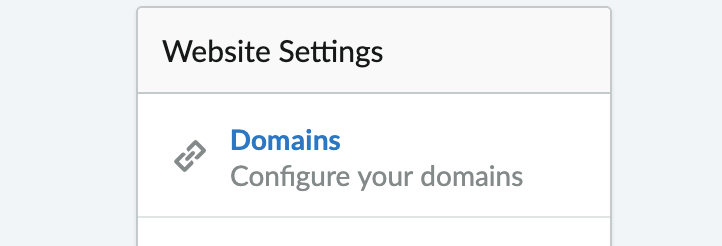 Shows the domain settings button on settings screen.