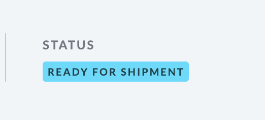 Shows image of the Awaiting   shipment status