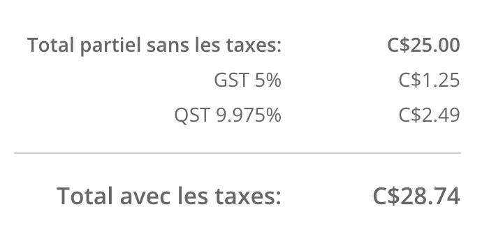 Affiche dans le panier les taxes activées pour les boutiques eCom dont les prix excluent les taxes.