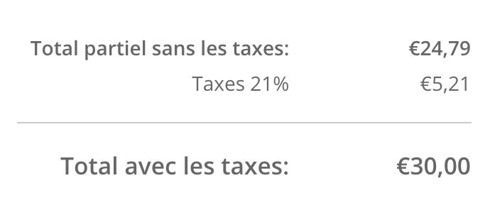 Affiche dans le panier les taxes activées pour les boutiques eCom dont les prix incluent les taxes.
