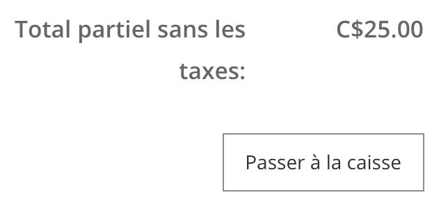 Affiche dans le panier les taxes masquées pour les boutiques eCom dont les prix excluent les taxes.