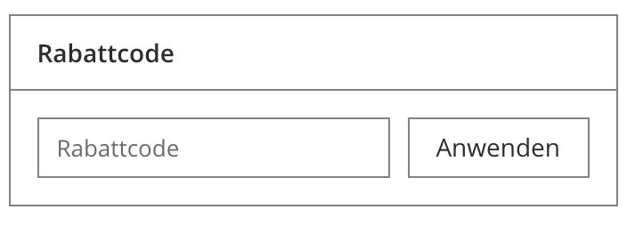 Zeigt das Rabattcode-Element auf der Warenkorbseite an.