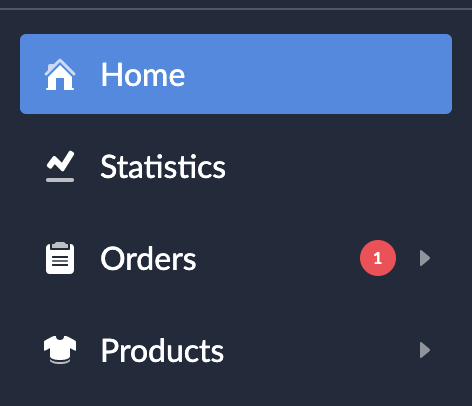 Shows a new order notification in the sidebar when you receive a new order.