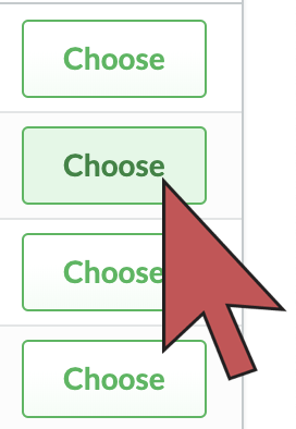 Shows an arrow hovering over a choose button