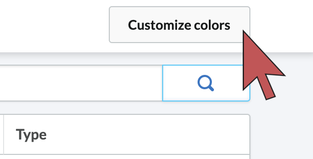 Image: Shows an arrow hovering over the customize colors button.