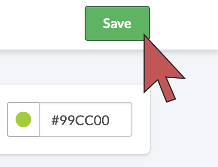 Image: Shows an arrow hovering over the save button.